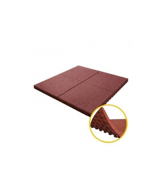 Pavele cauciuc alveolare 3.8 cm rosu